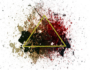 Abstract triangle on the paint background