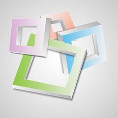 The vector 3d squares.Soft colors