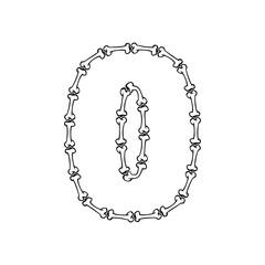 0 Bone Letter Logo Icon Design