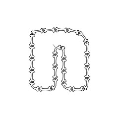 N Bone Letter Logo Icon Design