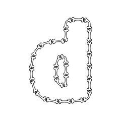 D Bone Letter Logo Icon Design