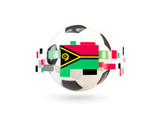 Soccer ball with line of flags. Flag of vanuatu