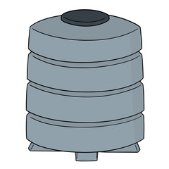 vector of water storage tank