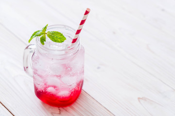 iced strawberry soda