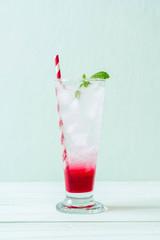 iced strawberry soda
