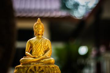 Buddha statue Soft focus with blur background
