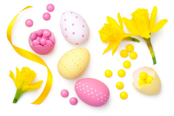 Easter Composition Isolated on White Background