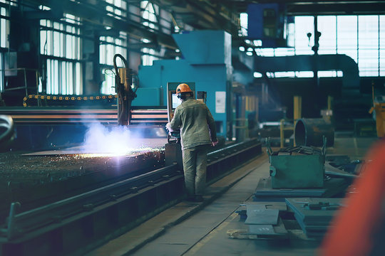 metallurgical production, manufacturing premises, workshop at the plant, blast furnace, heavy industry, engineering, steelmaking