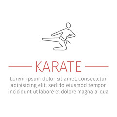 karate blow line icon Vector sign