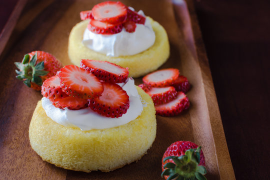 Closeup strawberry shortcake