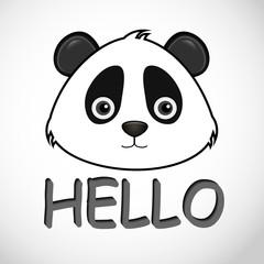 panda icon, hello panda.
