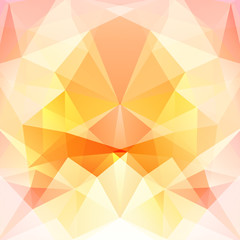 Polygonal vector background. Can be used in cover design, book design, website background. Vector illustration. Orange, white colors.