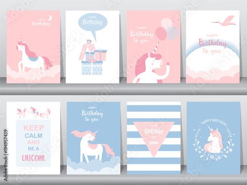 Set of birthday cardsposterinvitations cardstemplategreeting set of birthday cardsposterinvitations cardstemplategreeting cards m4hsunfo