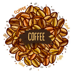 banner with coffee beans