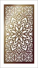 Vector Laser cut panel. Pattern template for decorative panel. Template for interior design, layouts wedding invitations, gritting cards, envelopes, decorative art objects etc.