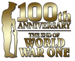 Britian, United Kingdom - The end of World War One. 100th anniversay banner. 1918 - 2018. Original design.