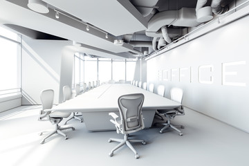 3d modern office conference room