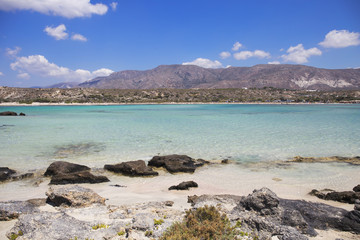 Turquoise water at Elafonisi beach, Crete Island, Greece