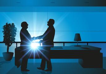contrat - poignée de main - homme d'affaires - partenariat - succès - réussite - entreprise - signature