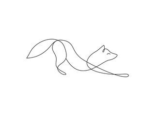 One line fox