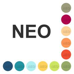 Farbige Buttons - NEO Schrift