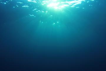 Underwater background sunburst