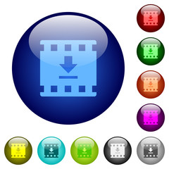 Download movie color glass buttons