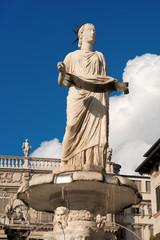 Statue of Madonna Verona - Piazza delle Erbe Italy