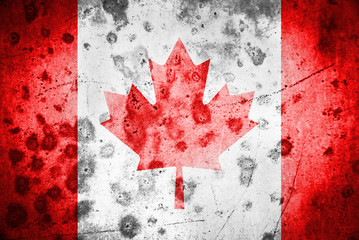 Canadian flag grunge texture