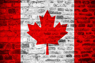 Canadian flag grunge texture