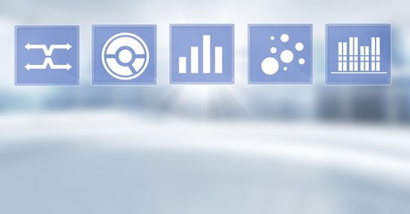 Business chart statistic icons