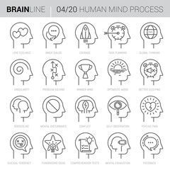 Mind Process Vector Icons 4