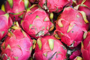 background of dragon fruit.Thailand