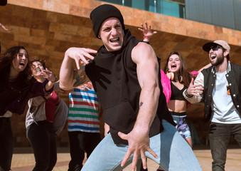 Cool people performing dance
