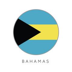 Bahamas flag round circle vector icon