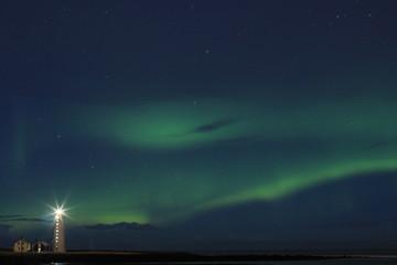 Northern lights(aurora) in Iceland.
