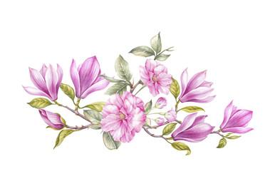 Bouquet of magnolia.