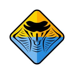 cobra snake sign symbol icon logo logotype template
