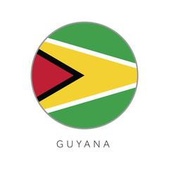 Guyana flag round circle vector icon