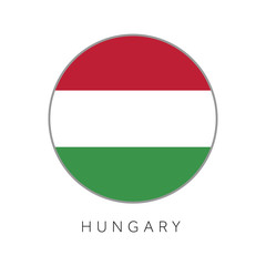 Hungary flag round circle vector icon