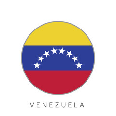 Venezuela flag round circle vector icon
