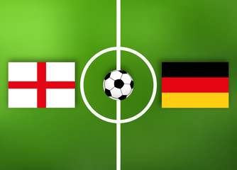England VS Deutschland - Fußball