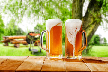 Self adhesive Wall Murals Beer / Cider beer and grill time