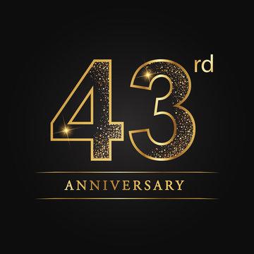 anniversary,aniversary, forty-three years anniversary celebration logotype. 43rd anniversary logo. forty-three years.