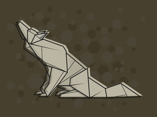 Vector abstract illustration wolf.