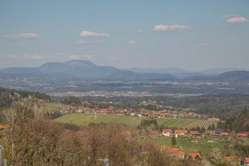 Panorama von St Stefan ob Stainz in der Weststeiermark, sowie Greisdorf