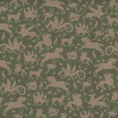 Bestiarium / non-repetitive pattern