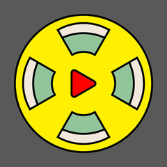 Flat Play Vector Logo Icon Button.youtube Flat Social Media Background Sign Download