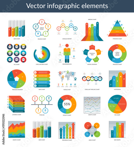 Infographic elements set of simple templates circle pie chart set of simple templates circle pie chart world map ccuart Images