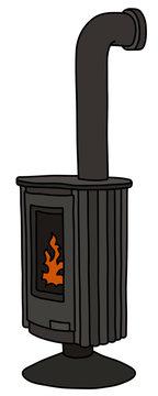 The modern design black stove